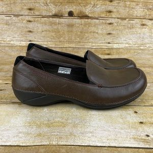 Merrell Parma Olive Brown Leather Loafer Flats